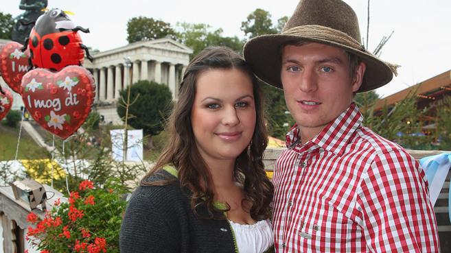 Jessica Farber y Tony Kroos, en una imagen reciente.