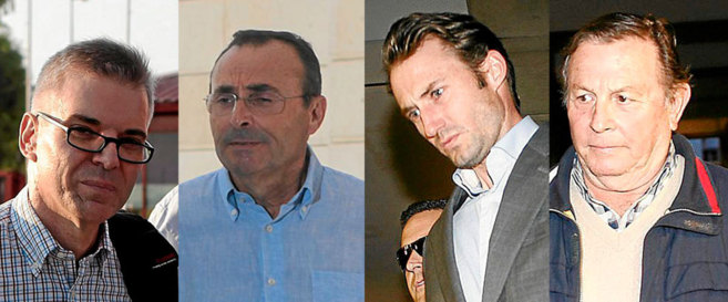 Domingo Enrique Castaño, Rafael González Palomo, José Antonio...