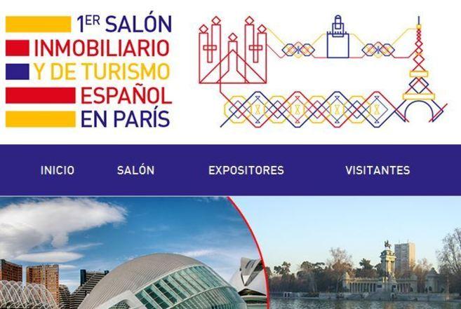 Portada de la página web oficial de la cita inmobiliaria española en...