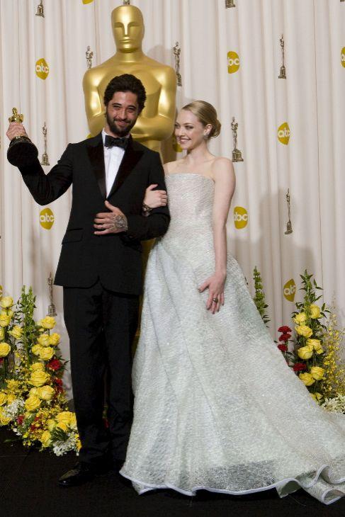 Amanda Seyfried, en otros Oscar, también vestida de Armani Privé.
