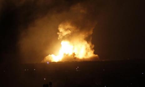 Bombardeo israelí a Rafah en Gaza