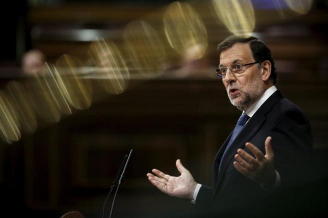 Mariano Rajoy, durante su intervención en el Congreso.