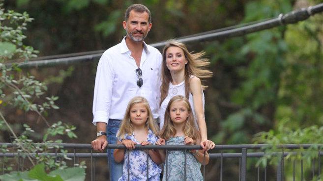 Los Reyes, en las vacaciones del año pasado, en Mallorca.