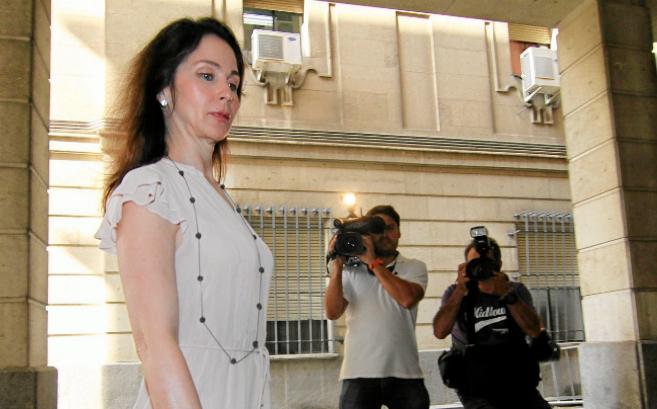La juez Mercedes Alaya a su llegada al juzgado.