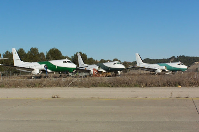 Imagen de algunos de los aviones abandonados en el aeropuerto Adolfo...