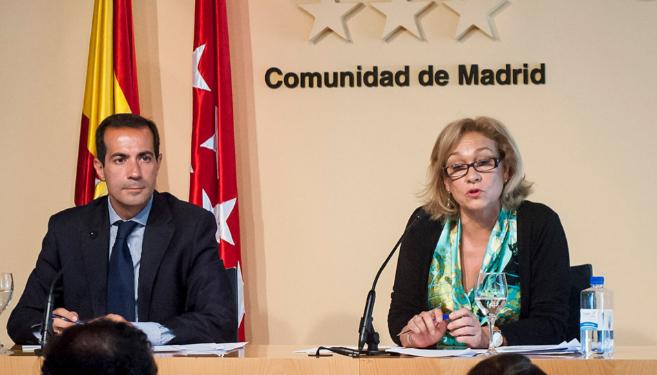 Ana Isabel Mariño y el portavoz del Gobierno Regional, Salvador...