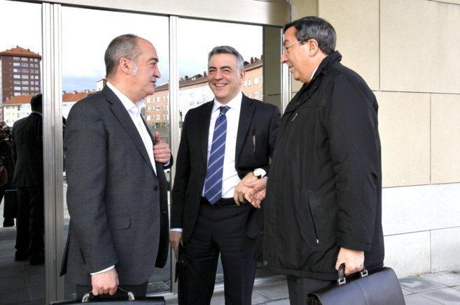 Los diputados generales de Gipuzkoa, Álava y Bizkaia