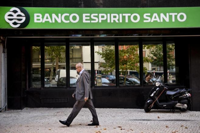 Fachada del Banco Espirito Santo en Lisboa.