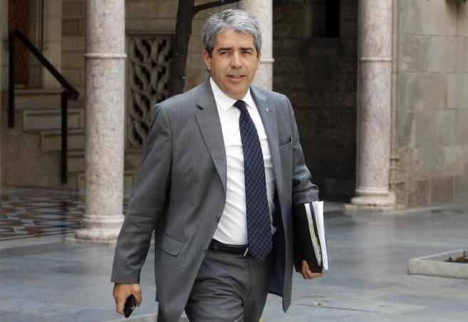 El conseller de presidencia Francesc Homs en la reunión de Govern en...