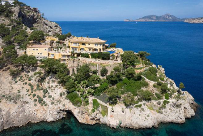 Vista aérea de la ubicación del Castillo Mallorca.