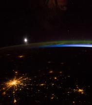 Aurora boreal en Moscú.