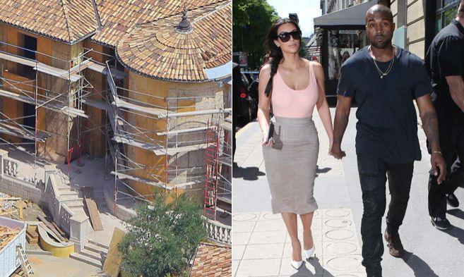 A la izquierda la mansión que la pareja compró en Bel-Air. ( dcha)...