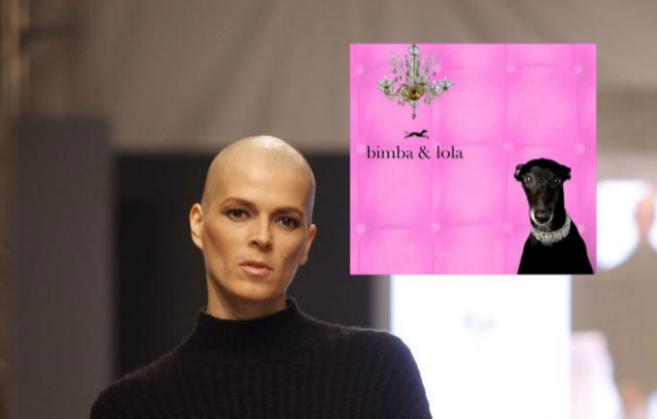 Bimba Bosé, que padece cáncer de mama, y el logo de la marca Bimba y...