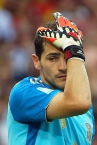 Casillas, en el partido ante Chile donde España cayó eliminada.