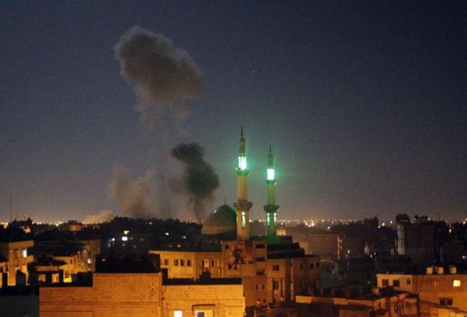 Rafah, en el sur de la Franja de Gaza, tras el último ataque aéreo...