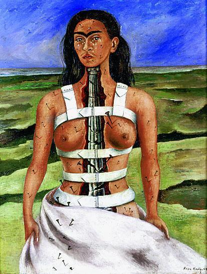 Cuadro pintado por Frida Kahlo, en la que se representa a sí misma