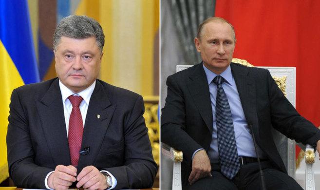Petró Poroshenko y Vládimir Putin.