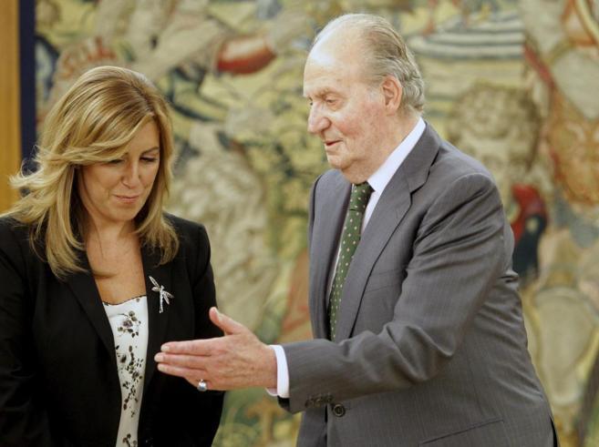 El Rey Juan Carlos recibe a la presidenta andaluza, Susana Díaz, en...