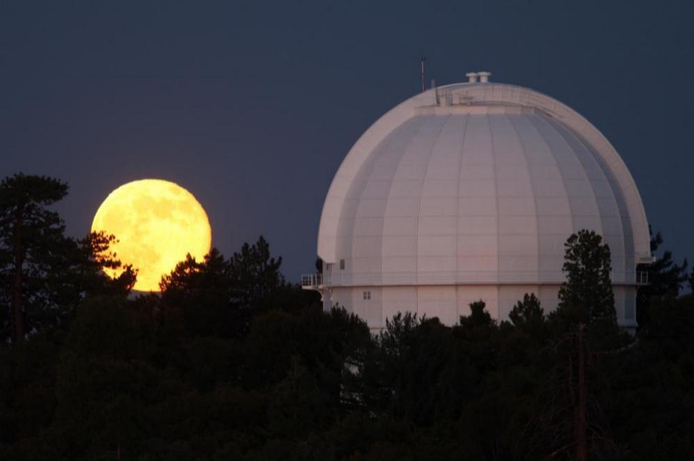 Junto al observatorio del Monte Wilson en Los Ángeles