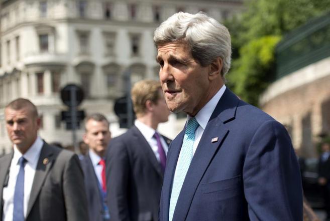 Kerry, a su llegada este domingo a la cumbre del G+5 con Irán.
