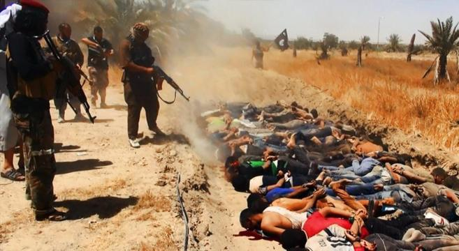 Soldados y civiles asesinados por yihadistas del IS.
