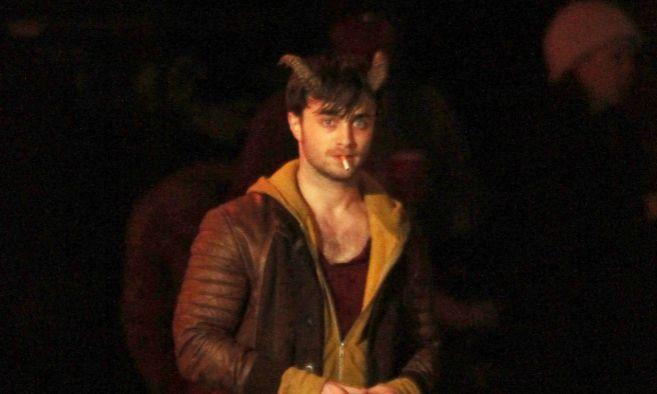 El actor, durante el rodaje de 'Horns'.