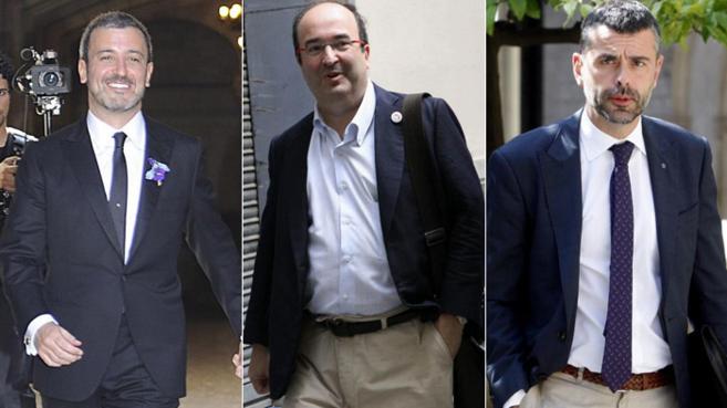 Jaume Collboni, Miquel Iceta y Santi Vila.