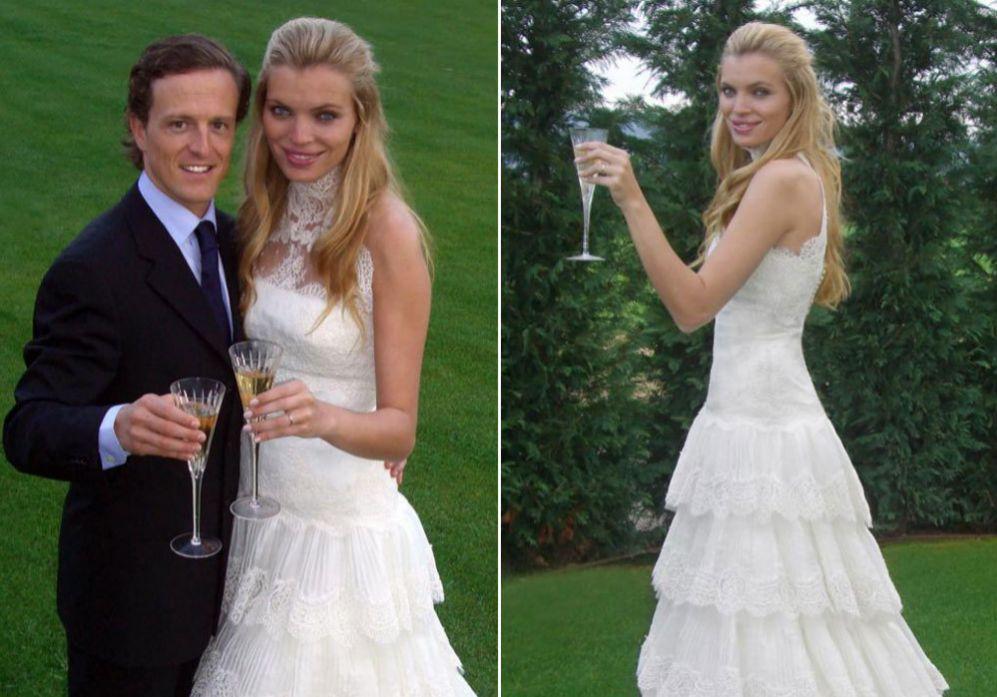 las famosas peor vestidas el día de su boda - esther cañadas. ser
