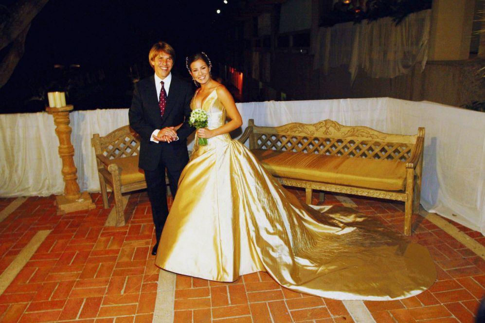 las famosas peor vestidas el día de su boda - virginia troconis. la