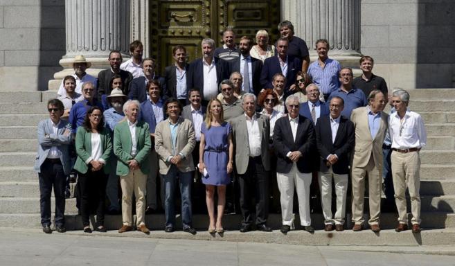 Presentación de la plataforma Libres e Iguales, esta tarde, frente al...