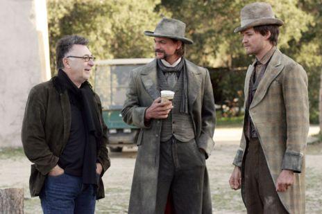 Imagen del rodaje de 'Deadwood', de David Milch.