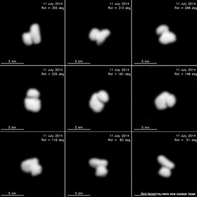 Las nuevas imágenes del cometa 67P captadas por la sonda Rosetta.