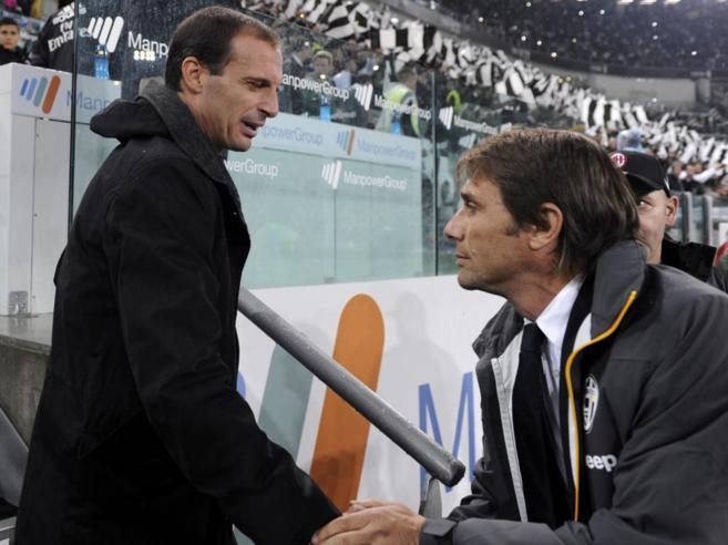 Massimiliano Allegri y Antonio Conte.