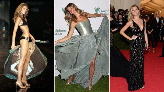 Gisele Bundchen, trabajando como modelo, como imagen de una marca y...