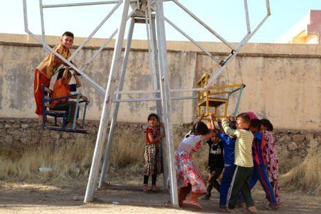 Niños chiíes refugiados en Al Qosh, a 45 kilómetros de Mosul.