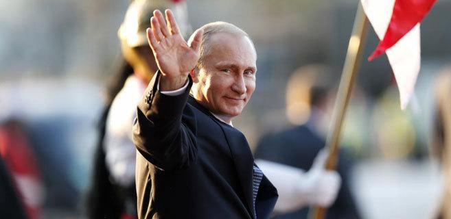 Vladimir Putin en la cumbre de los BRICS en Brasilia