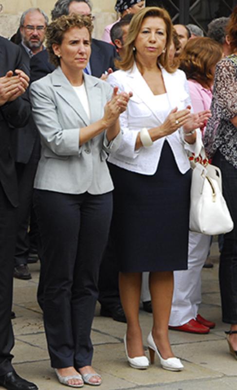 Aina Calvo y Maria Antònia Munar en 2008.