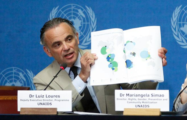 Loures durante la presentación en Ginebra del último informe sobre...