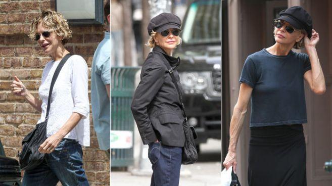 Tres imágenes recientes de Meg Ryan. La de la izquierda fue tomada el...
