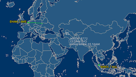 avión derribado ucrania