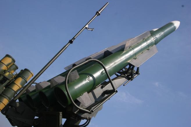 Una batería de misiles Buk de fabricación rusa.