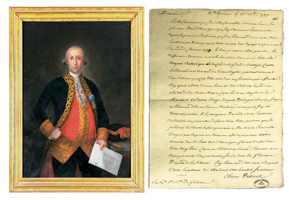 Retrato del gobernador de Luisiana de Carlos Monserrate, junto al...