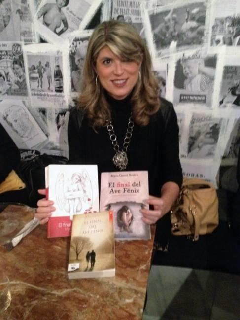 Marta Querol presentando sus tres novelas