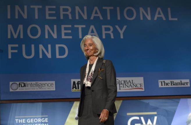 La directora gerente del Fondo Monetario Internacional, Christine...