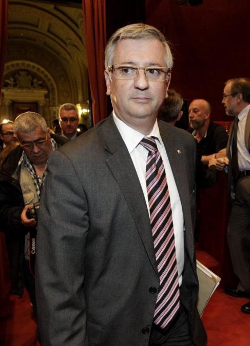 Xavier Martorell, en su comparecencia en la comisión informativa del...