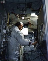 Neil Amstrong en el Apolo 11