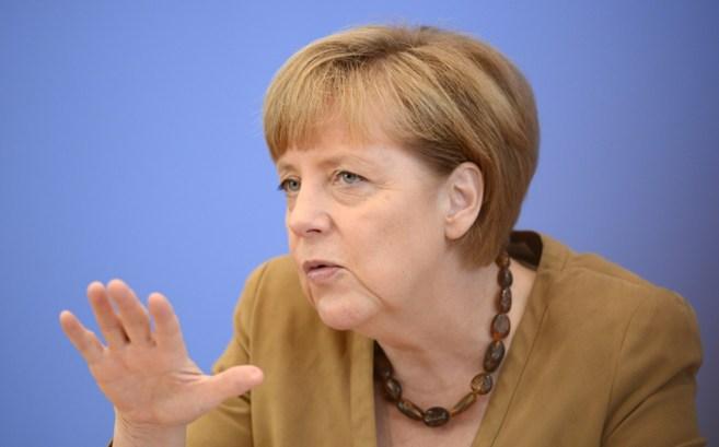 La canciller Angela Merkel, durante una rueda de prensa en Berlín.