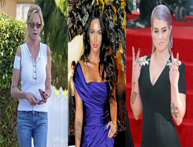 Melanie Griffith, Megan Fox y Kelly Osbourne