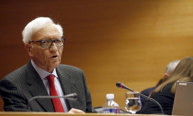 El Síndic de Comptes, Rafael Vicente Queralt, en una comparecencia.