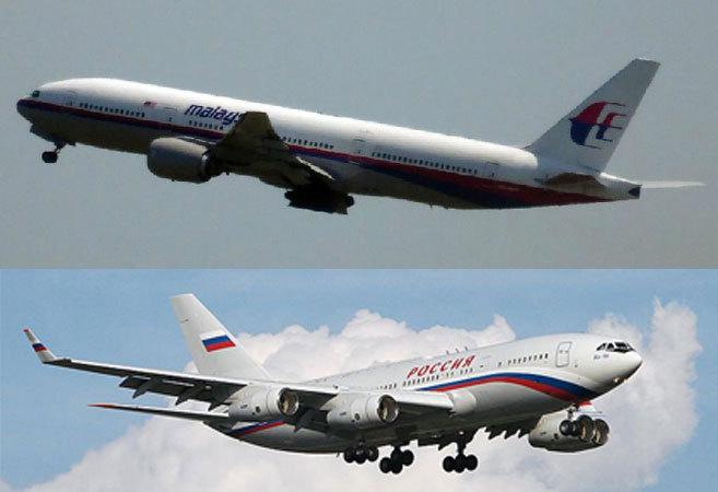 El Boeing 777-200 de Malaysia Airlines despegando de Schiphol y el...
